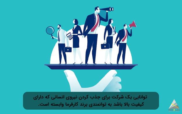 توانایی یک شرکت برای جذب کردن نیروی انسانی که دارای کیفیت بالا باشد به توانمندی برند کارفرما وابسته است-آژانس تبلیغاتی مثلث