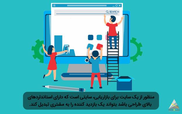 یک سایت برای بازاریابی، سایتی است که دارای استاندارد های بالای طراحی باشد و بازدید کننده را به مشتری تبدیل کند-گروه تبلیغاتی مثلث